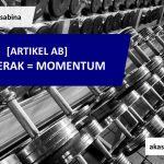Bergerak = Momentum